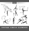 set of elements of the circus vector image