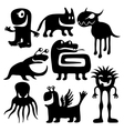 strange characters set vector image