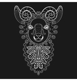 zentangle Ram Head white Goat vector image