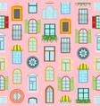 cartoon windows background pattern vector image
