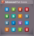 flat file type icons vector image