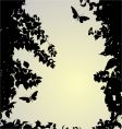 silhouette border vector image vector image