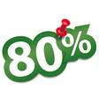 Eighty percent sticker vector image