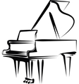 piano vector image