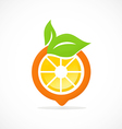 orange fruit nutrition abstract logo vector image