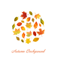 Colorful Autumn Leaves Background vector image vector image