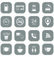 Set of gas station icons Fuel glyph icons vector image