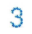 Festive numbers vector image