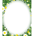 green floral edges vector image