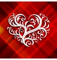 with branch heart Tattoo vector image