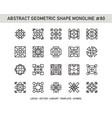 abstract geometric shape monoline 80 vector image