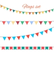 Flags set for your birthday design vector image