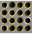 golden and black rounds vector image