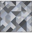 Monochrome retro geometric background vector image