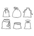 Santa Claus bags vector image
