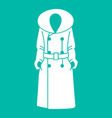 Women coat icon on background vector image