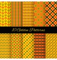 10 Asian seamless patterns vector image