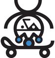 Retro Skateboarder vector image vector image