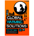 global warming solutions vector image