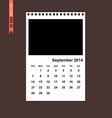 September 2014 calendar vector image