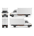 cargo van isolated on white city commercial vector image