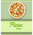 pizza menu green vector image