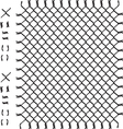 Black woven wire fence vector image