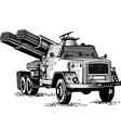 reactive artillery vector image vector image