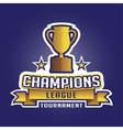 Champion sports league logo emblem badge graphic vector image