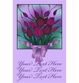 postcard with bouquet of flowers vector image