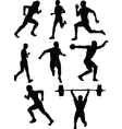 athletics silhouette vector image