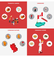 Canada Concept Icons Set vector image