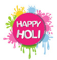 colorful for happy holi invitation and greeting vector image
