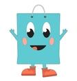 Happy shopping bag vector image