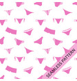 seamless pattern pink underwear vector image