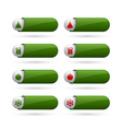 Simple Christmas buttons vector image
