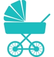 Simple icon of baby pram vector image