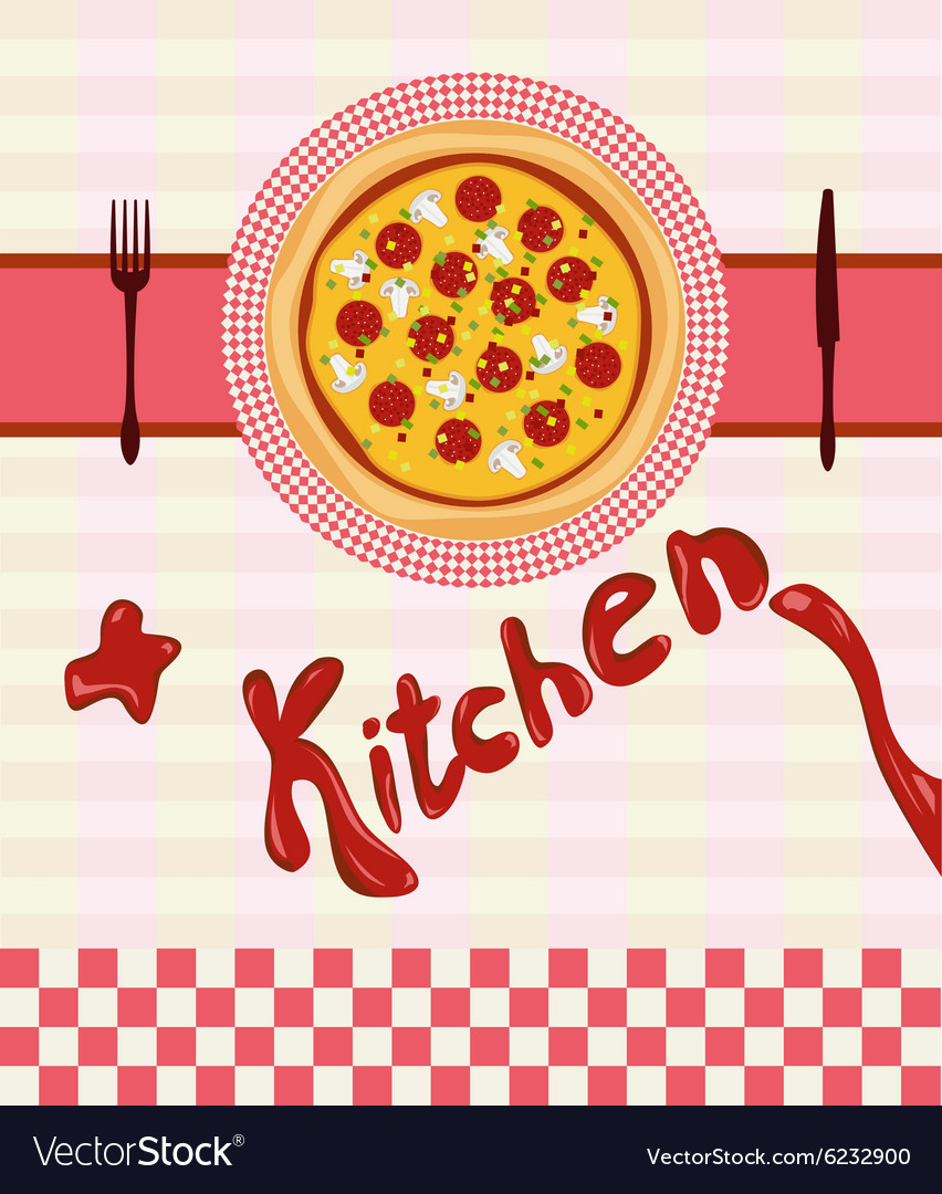 Set for the pizza menu vector