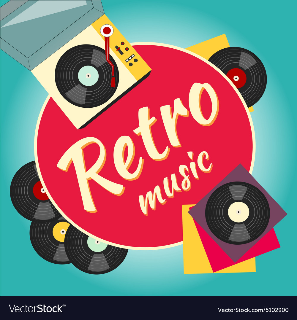 Vinyl record and turntable vector