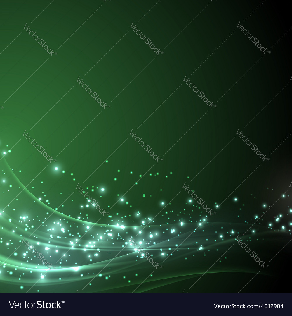 Green sparkle shimmering abstract background vector