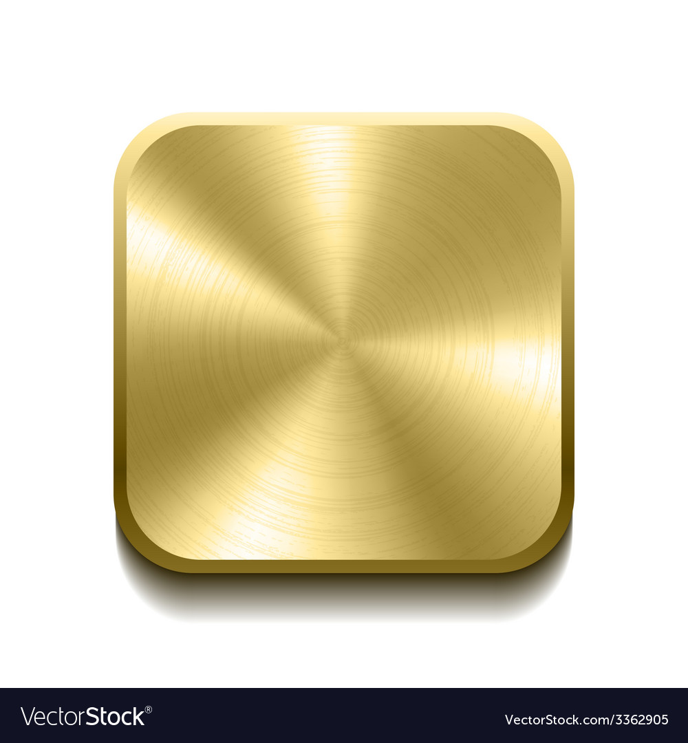 Realistic gold button vector