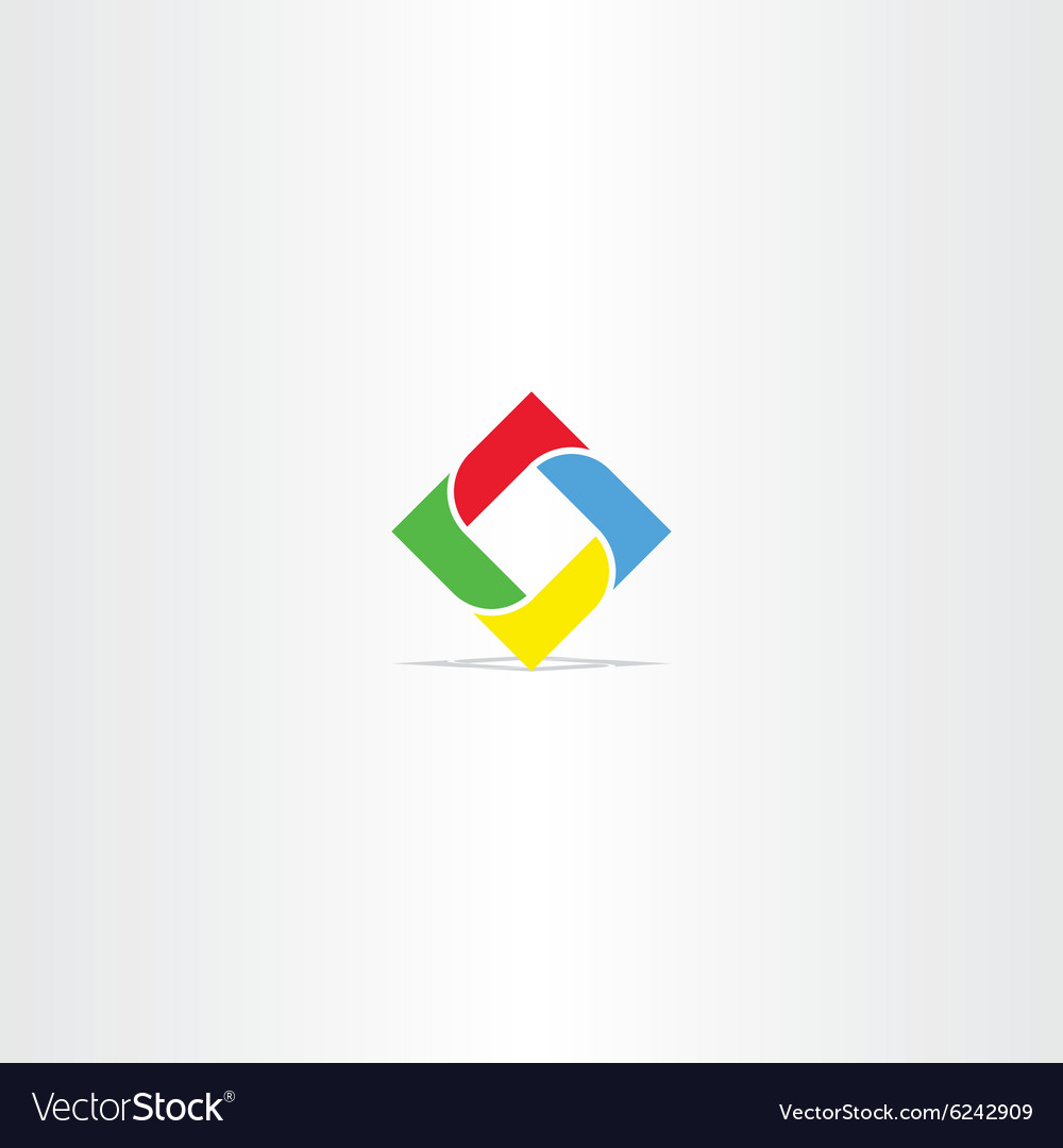 Square in square business logo icon vector