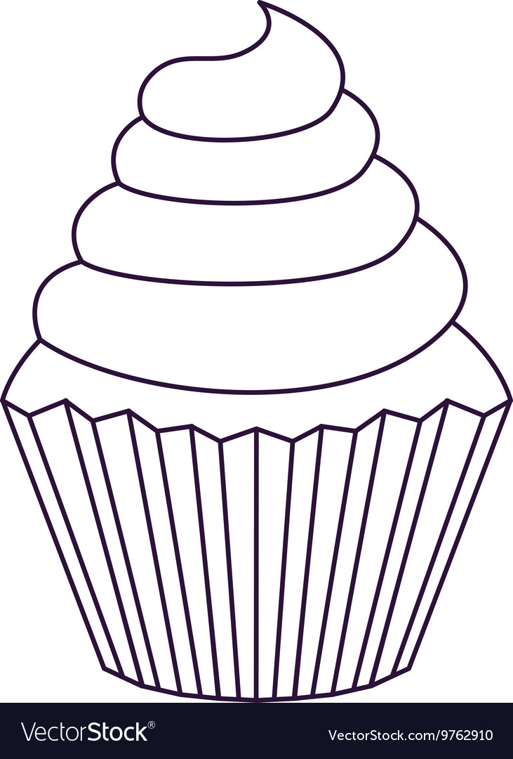 Delicious cupcake isolated icon design vector