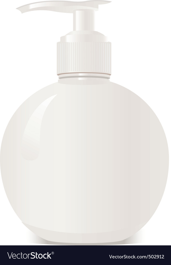 White bottle vector