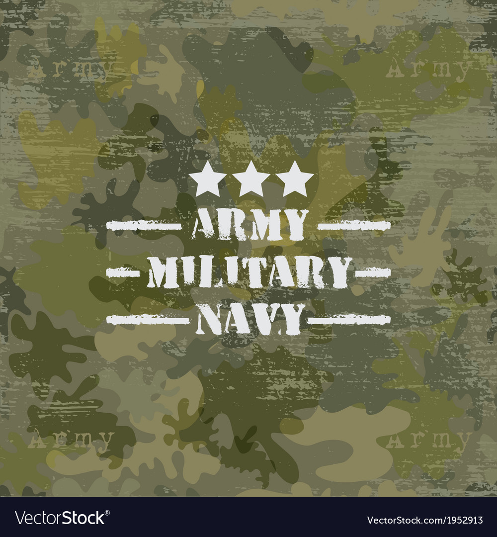 Military seamless background with text vector