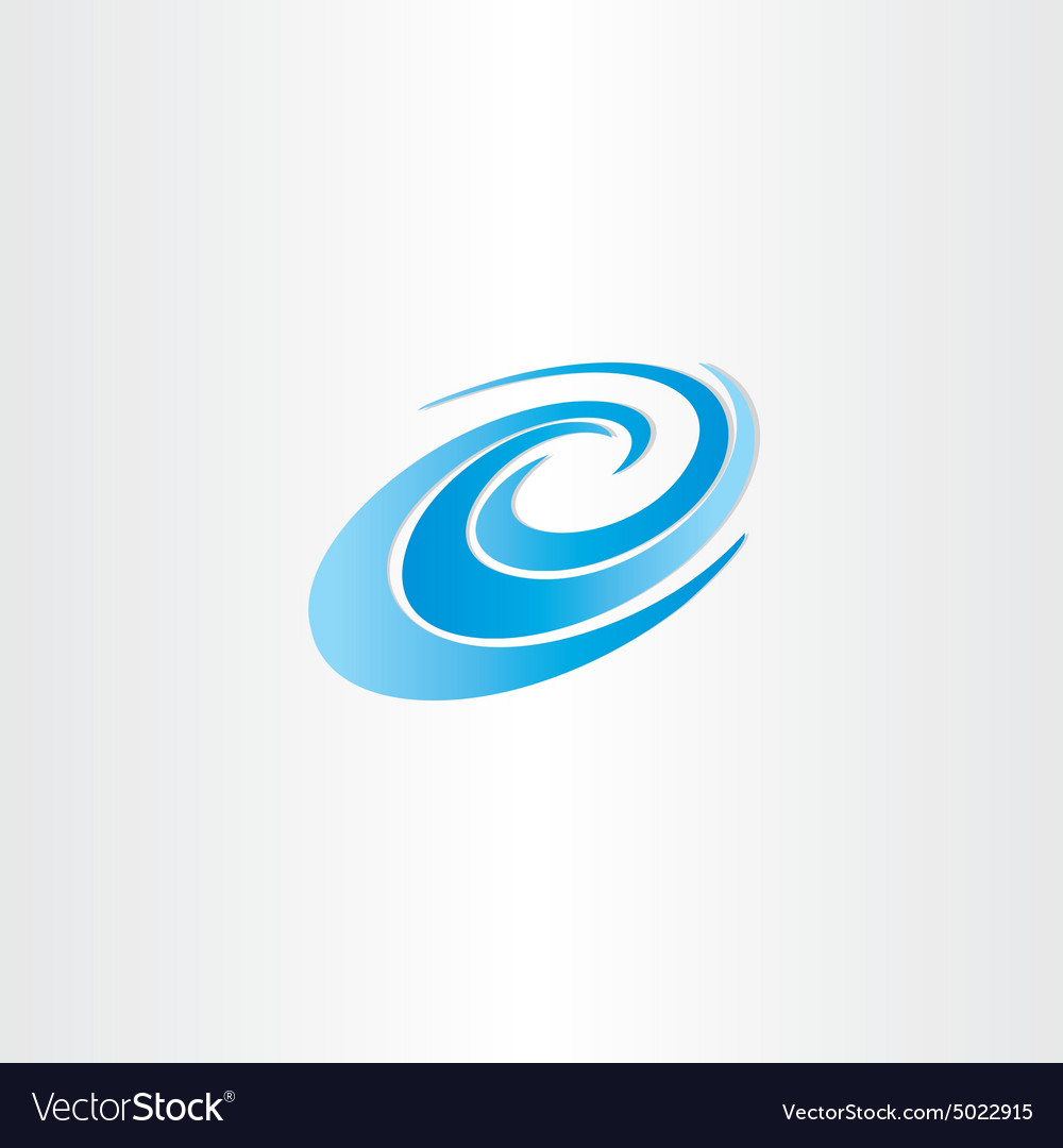 Blue water wave element vector