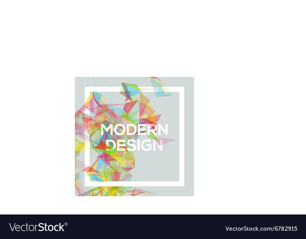 Geometric poster template with transparent vector
