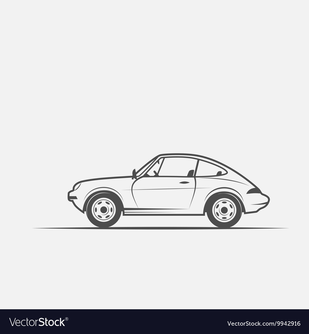 Grayscale image of the car vector