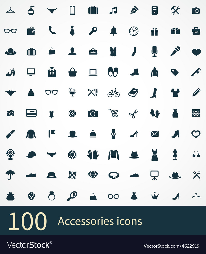 Accessories icons vector