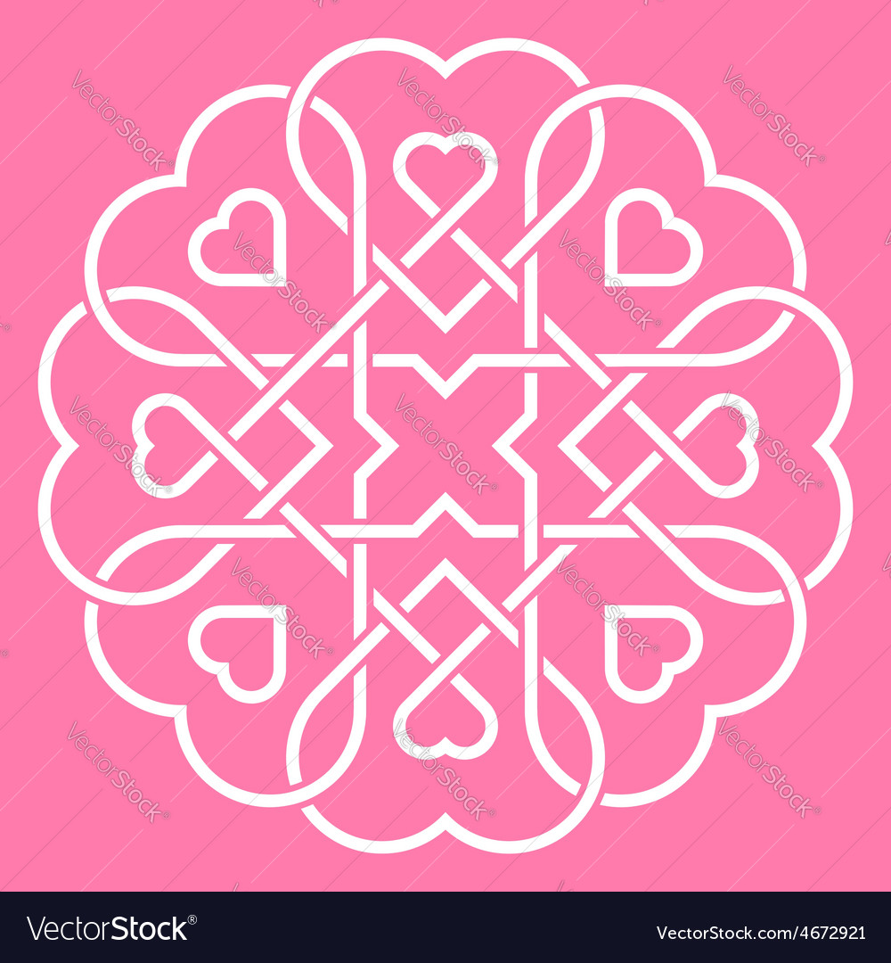 United hearts concept vector